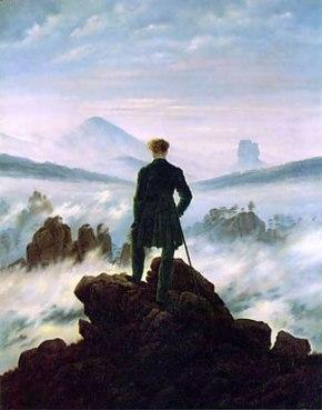 Caminante sobre un mar de nubes. Caspar David Friedrich (1774-1840)