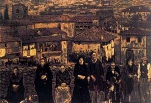 Chozas de la alhóndiga (1912) Colección particular- Gutiérrez Solana