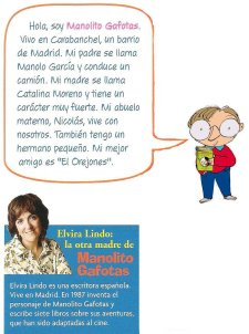 """Manolito Gafotas"" y Elvira Lindo"