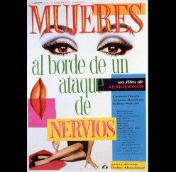 """Cartel de la película de Almodóvar """"Mujeres al borde de un ataque de nervios"""""""