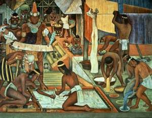 """Mural """"Indios trabajando"""" (1940)"""