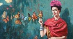 Autorretrato- Frida Kalho, pintora mexicana
